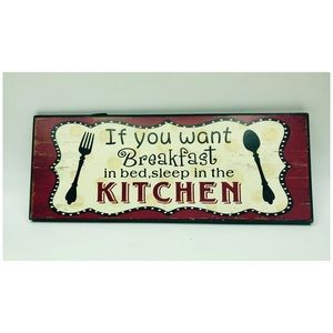 """Other - Home Decor Kitchen Plaque Wall Art 13x5"""""""